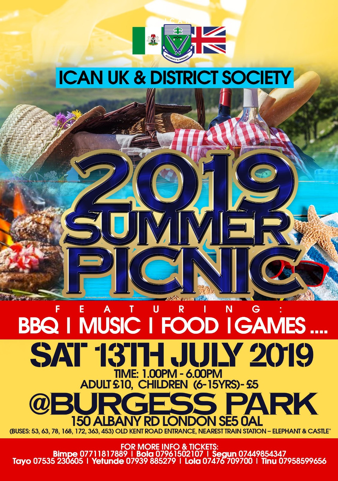 Summer Picnic | 13th July 2019 | 1.00 - 6.00 PM