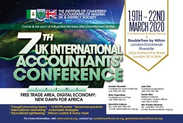 7th UK International Accountants' Conference [11th-15th Mar 2020]